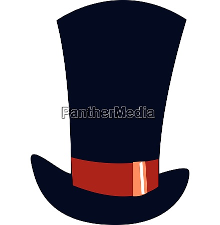 a big blue hat vector or