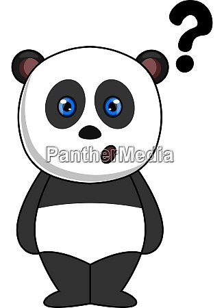 panda with question marks illustration vector