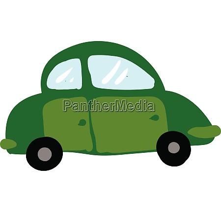 gruenes auto vektor oder farbe illustration