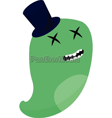 monster with blue hat vector or