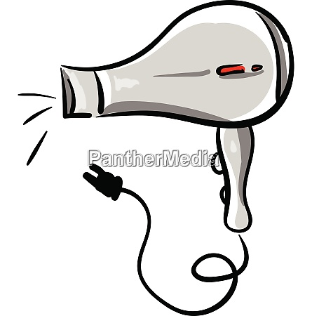 working hair dryer vector or color