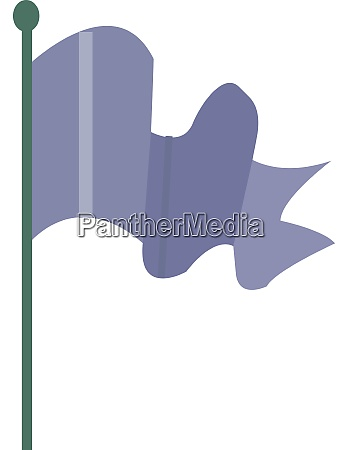 purple flag illustration vector on white
