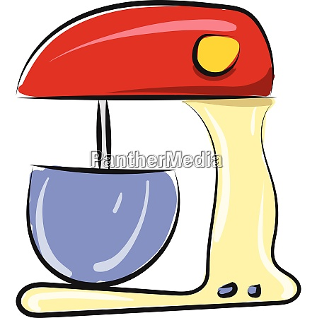 a electric red colored mixer vector
