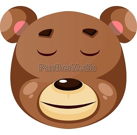 bear is feeling calm illustration vector