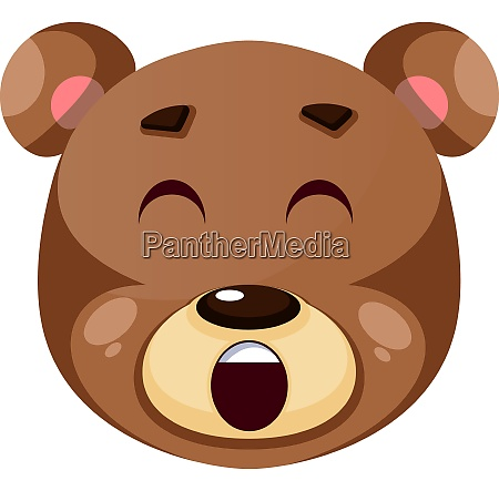 bear is yelling illustration vector on