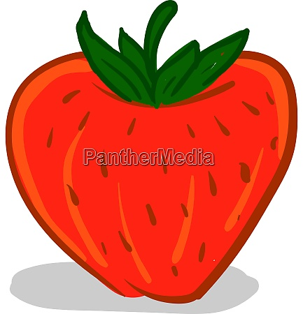 a red strawberry cartoon vector or