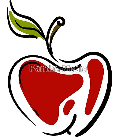 a red apple cartoon vector or