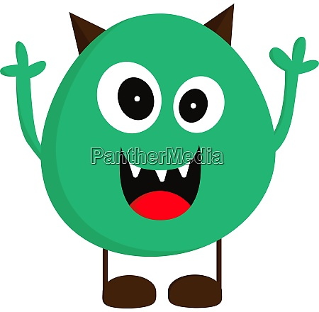 a monster with big eyes vector