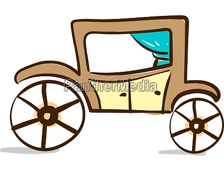 a brown horse carriage vector or