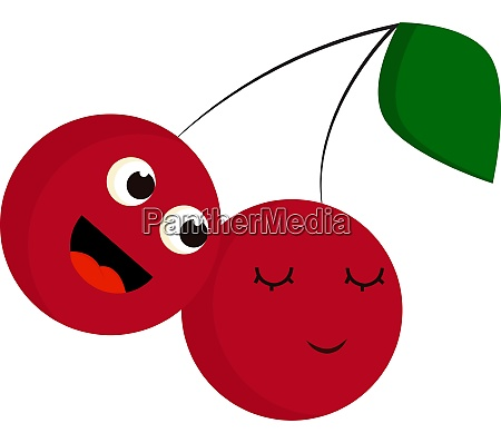 a girl and a boy cherries
