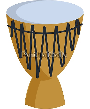 a big yellow conga drum vector