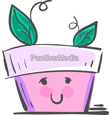 a cute and happy pot vector