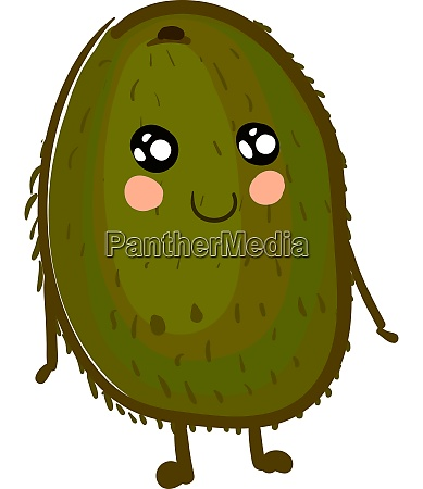a cute kiwi fruit vector or
