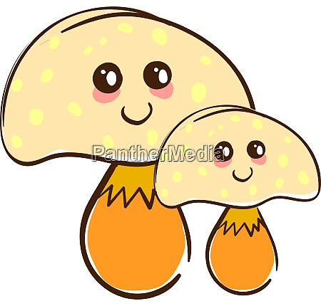 a cute mushrooms vector or color