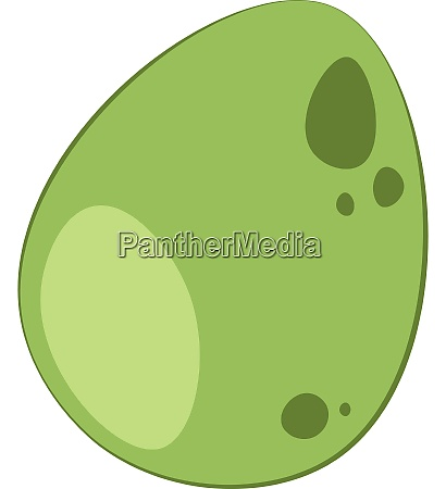 a green dinosaur egg vector or