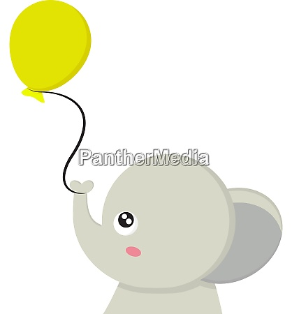an elephant with a balloon vector