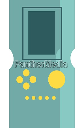 a game boy with blue color