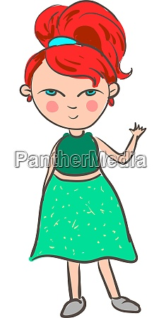 a girl with a red hair