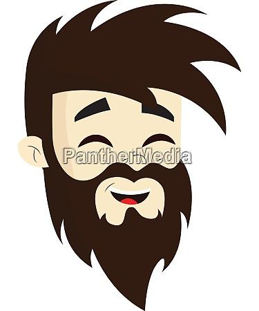 a happy man with beard vector
