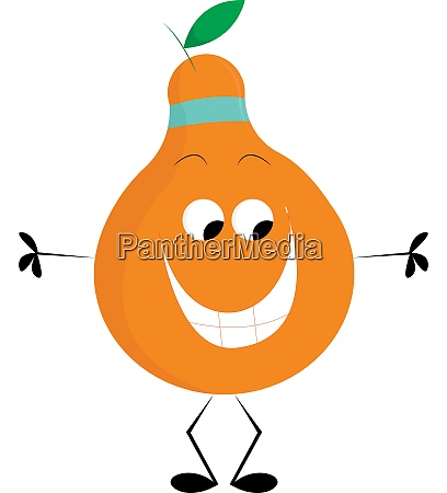 a happy pear vector or color