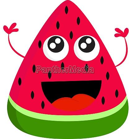 a happy watermelon vector or color