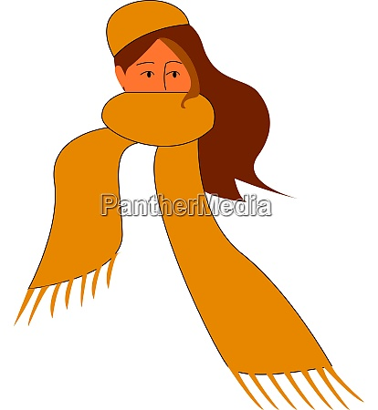 a girl with a yellow scarf