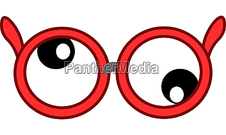 a red googly glasses vector or