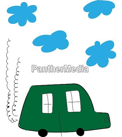 ein gruenes auto vektor oder farbe