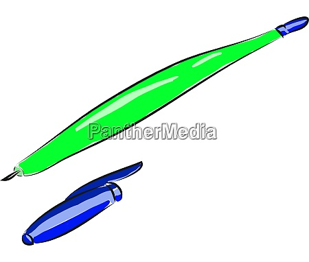 a green pen vector or color
