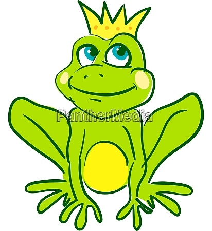 a king frog with a gold