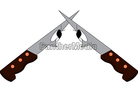 an angry knives vector or color