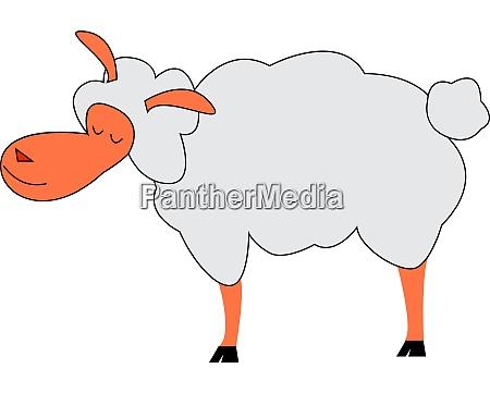 a happy lamb vector or color
