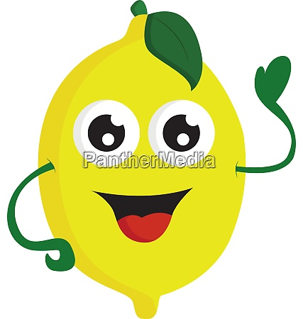a happy lemon vector or color