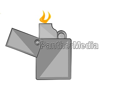 a lighter with a flame vector