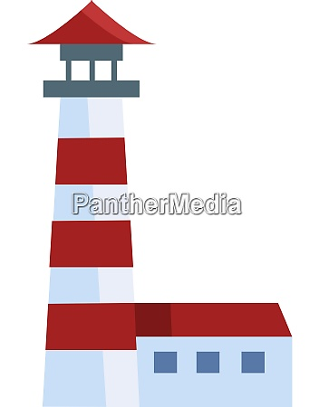 a lighthouse with bright spotlight vector