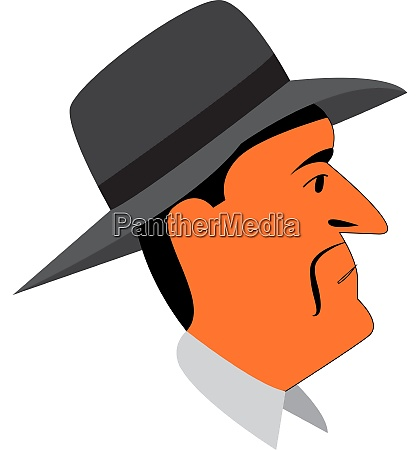 a man in a gray hat