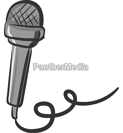 a gray microphone vector or color