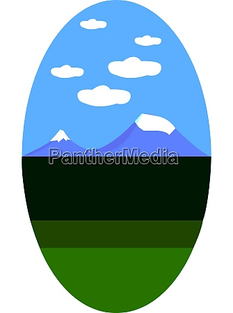 a blue mountains vector or color