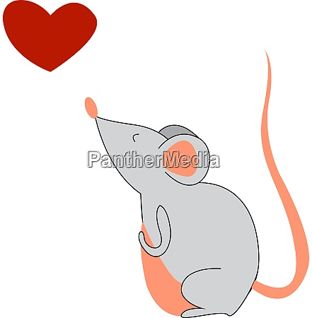 a mouse and a red heart