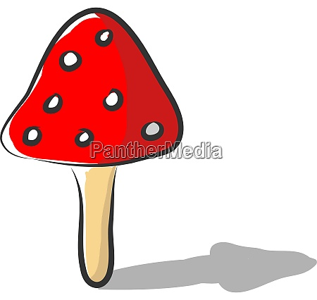 a red mushroom vector or color