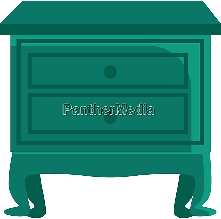 a green nightstand vector or color