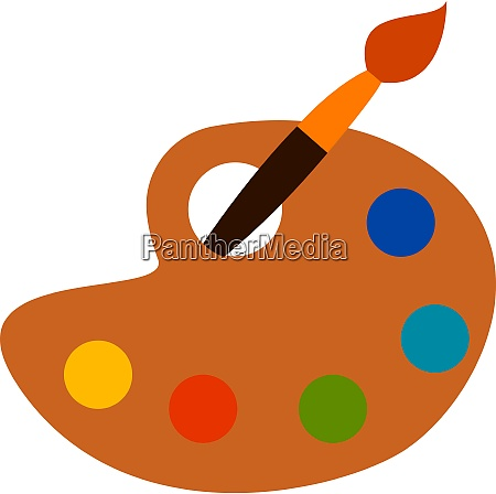 a yellow palette vector or color