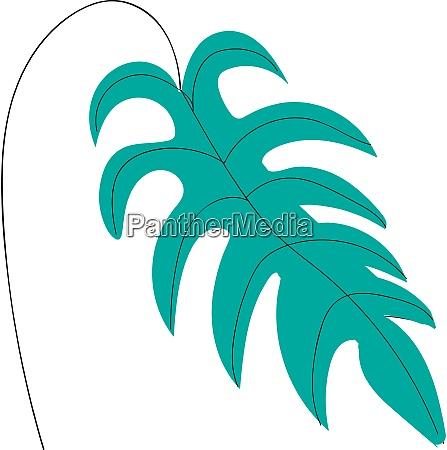 a big palm leaf vector or