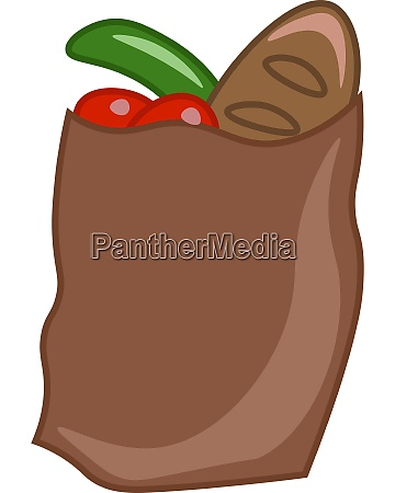 a brown paper bag vector or