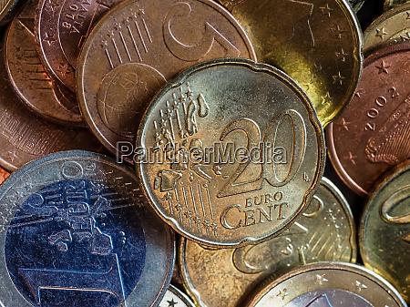 euro muenzen geld eur waehrung der