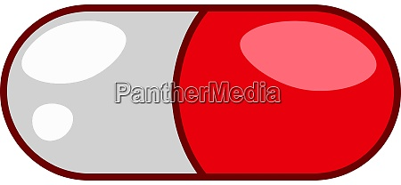 pill in white and red vector