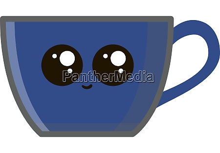 blue coffee cup illustration vector on