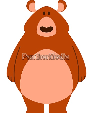orange big bear illustration vector on