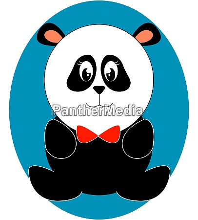 cute toy panda illustration vector on