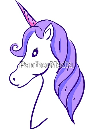elegant unicorn illustration vector on white